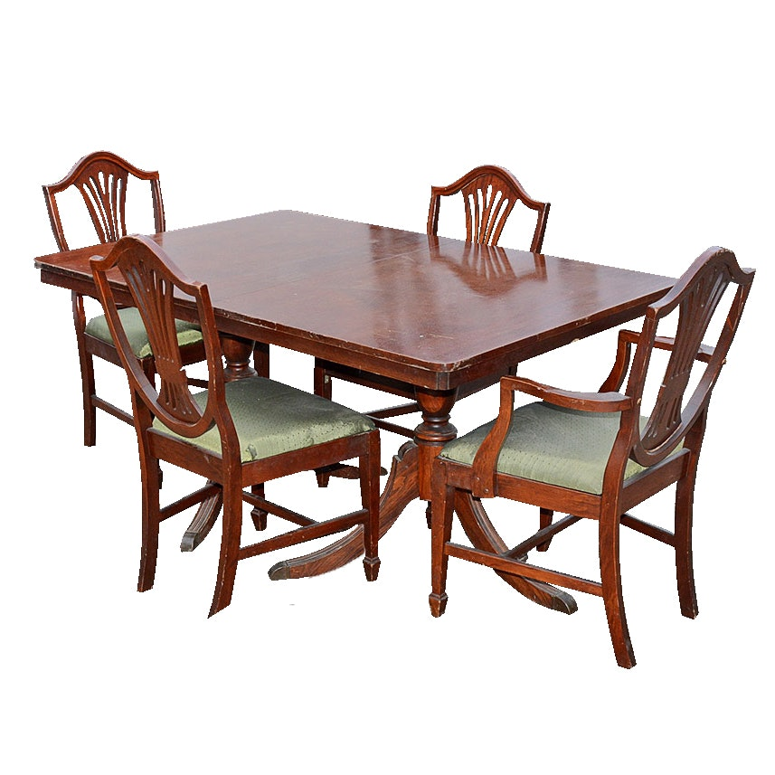 Duncan Phyfe Dining Table And Chairs ...