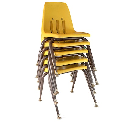 Vintage Children's Plastic Stacking Chairs