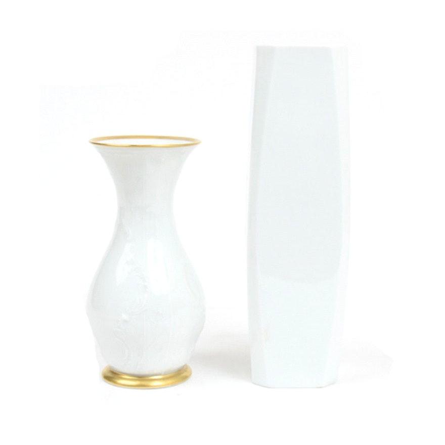 White Rosenthal Vases Ebth