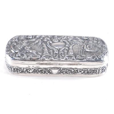 Circa 1897 Thomas Hayes Sterling Silver Trinket Box