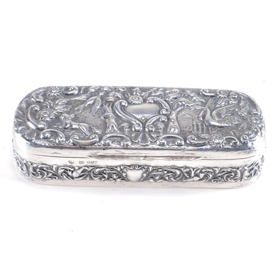 Circa 1897 Thomas Hayes Sterling Silver Trinket Box