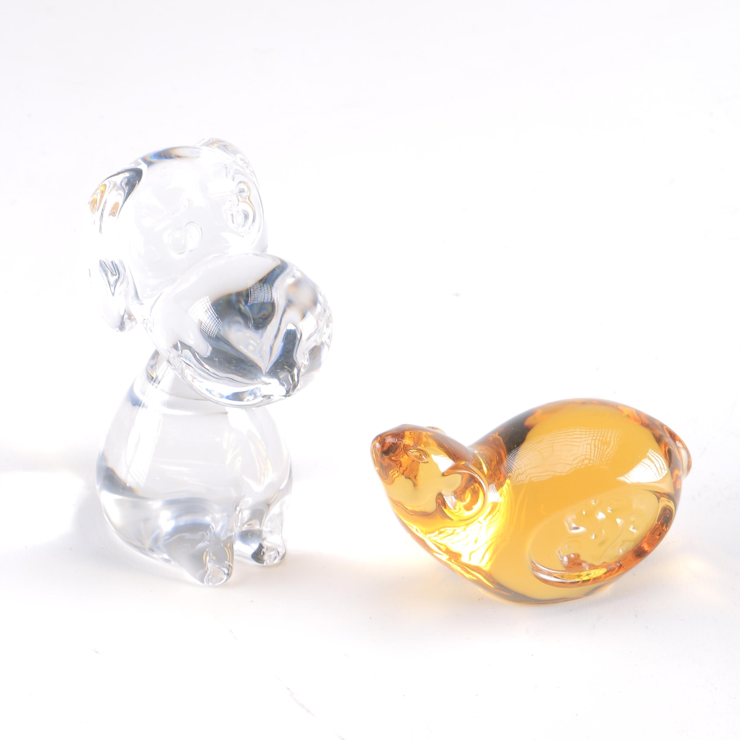 Glass Paperweights Including Snoopy