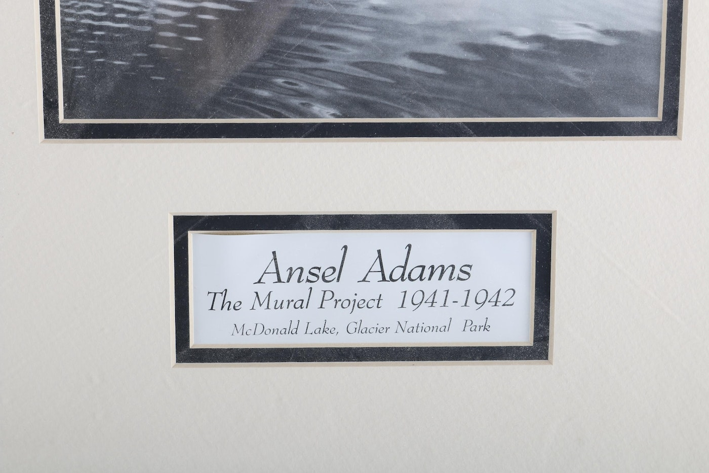After ansel adams offset lithograph mcdonald lake for Ansel adams mural project 1941 to 1942