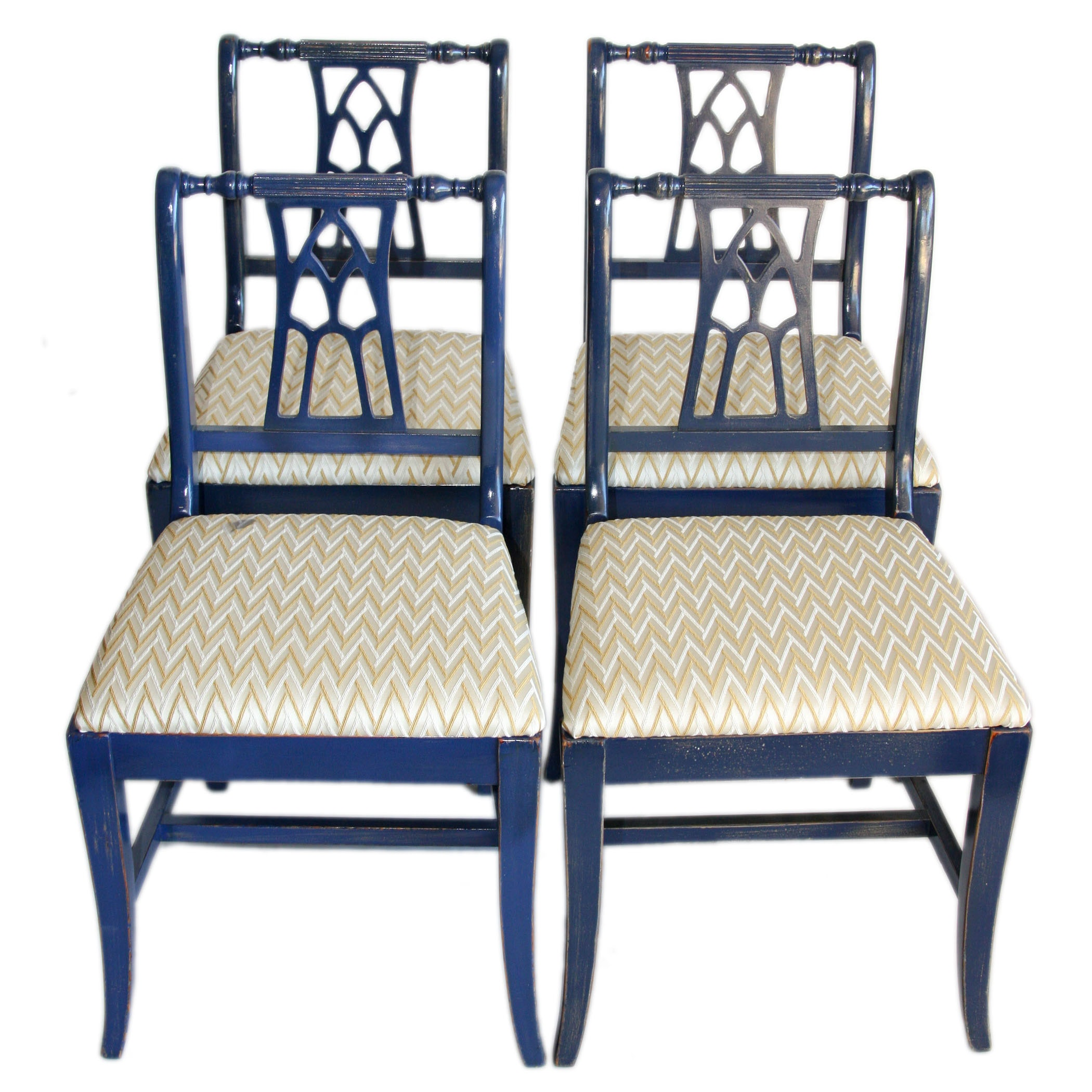 Set of Four Duncan Phyfe Style Dining Chairs