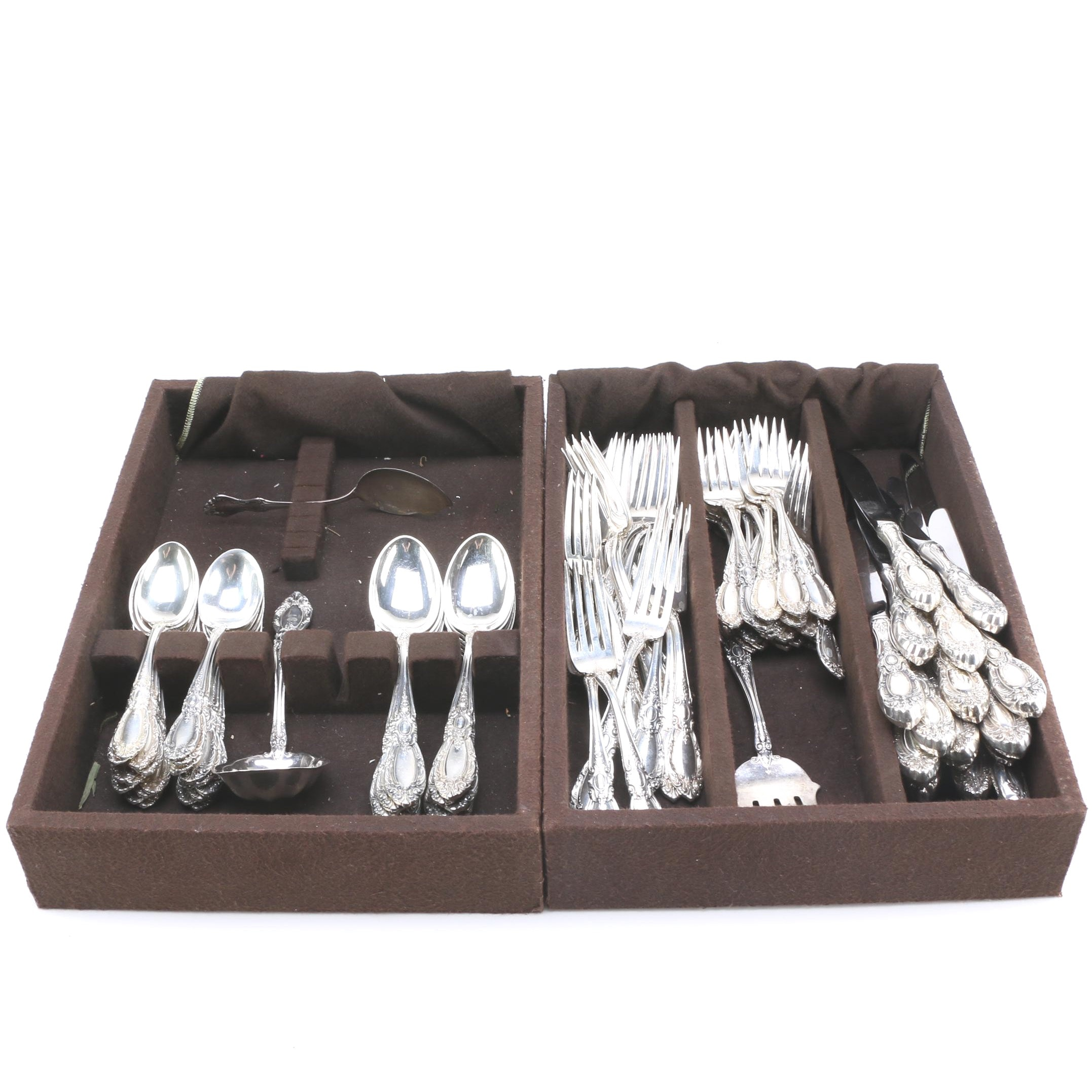Set of Towle and National Sterling Flatware and Boxes