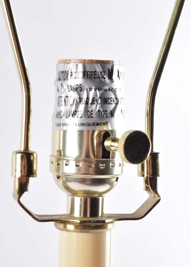Ralph Lauren Brass Candlestick Lamps Ebth