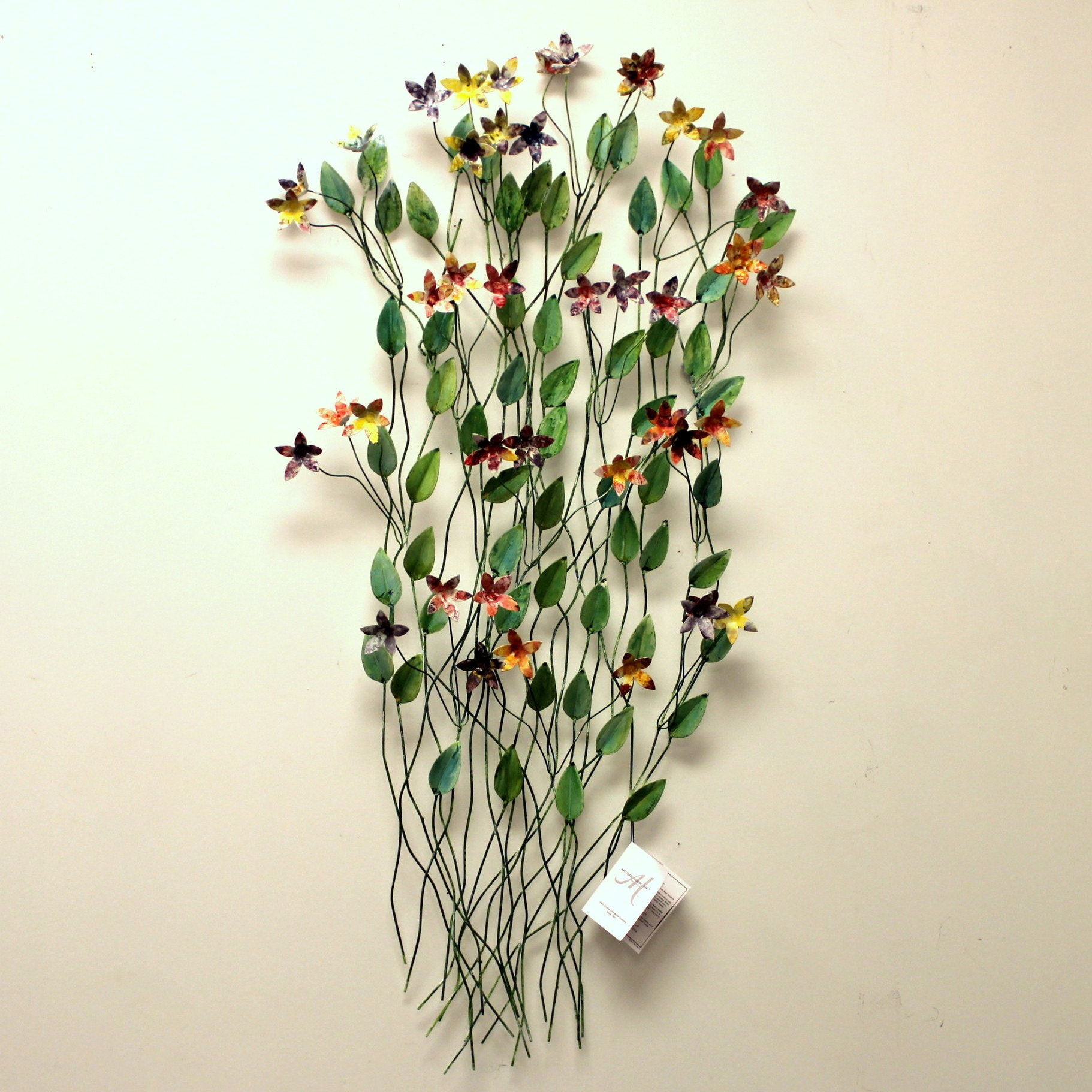 Hand Painted Metal Wall Sculpture