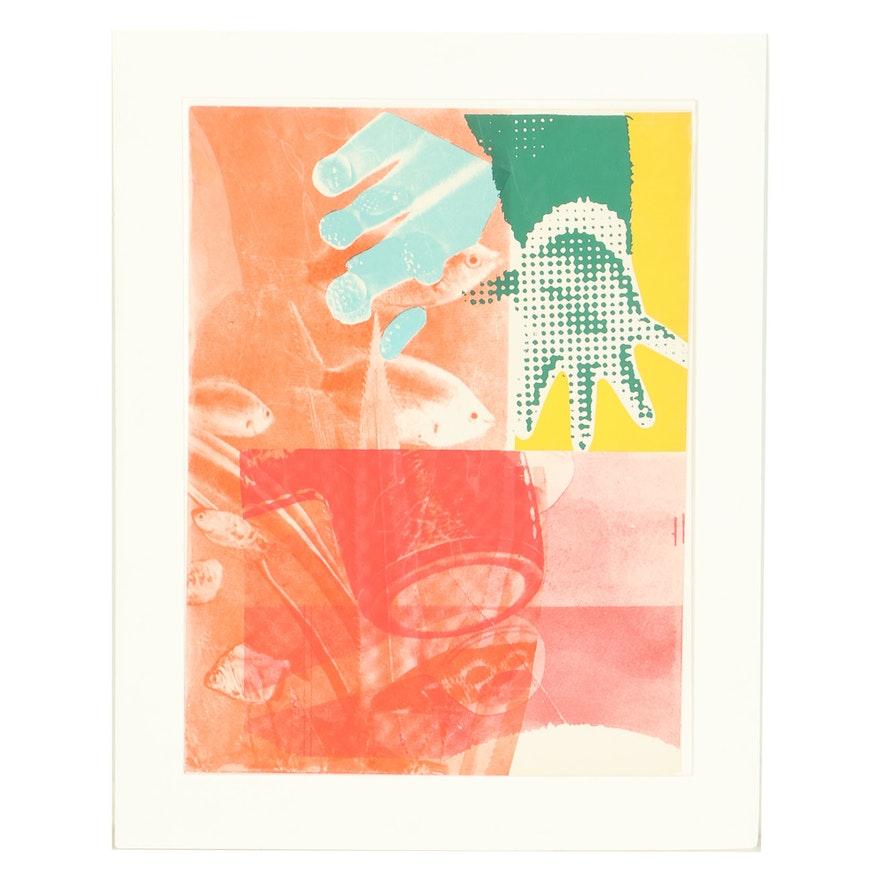 """James Rosenquist Limited Edition Serigraph """"For Love"""""""