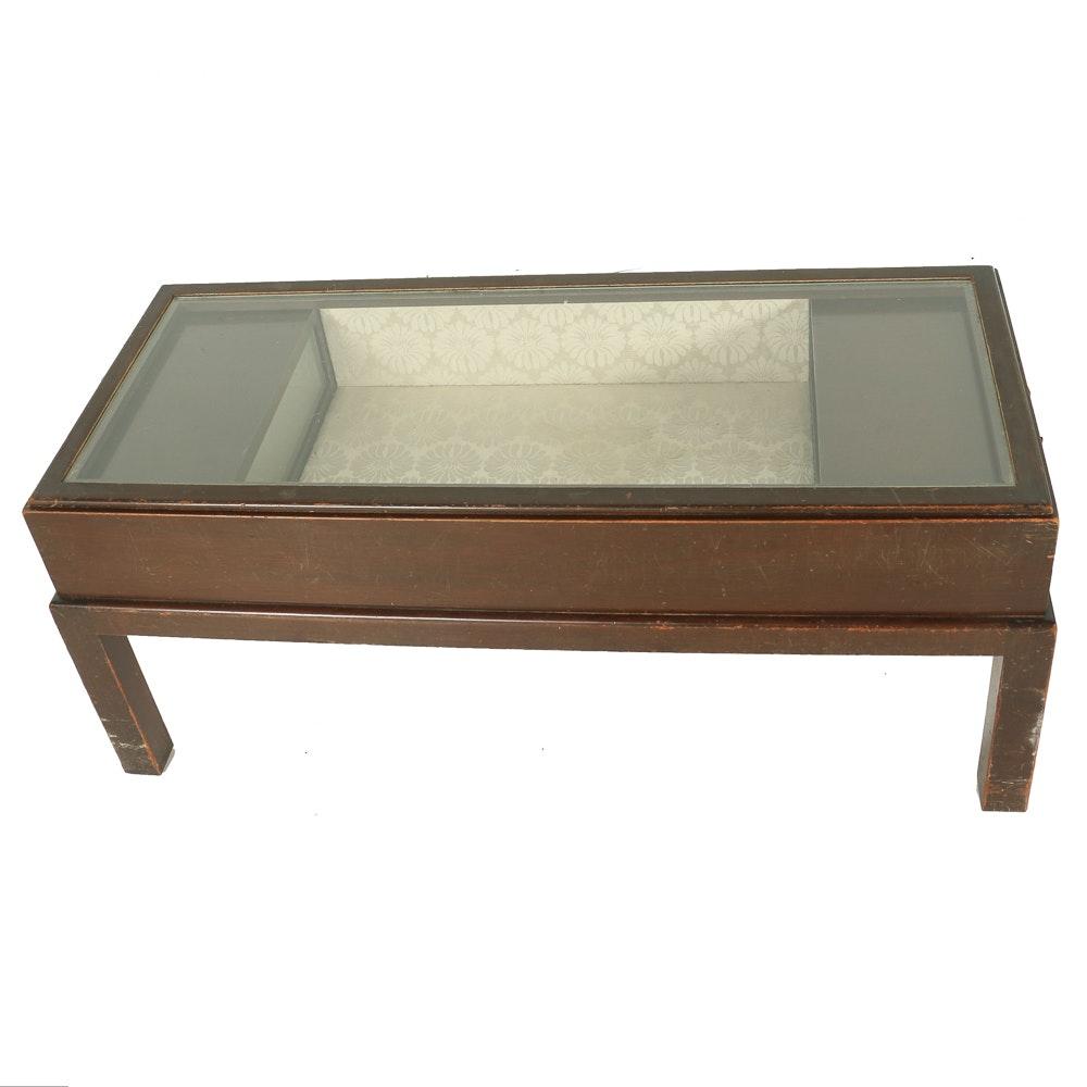 Vintage Display Case Coffee Table EBTH