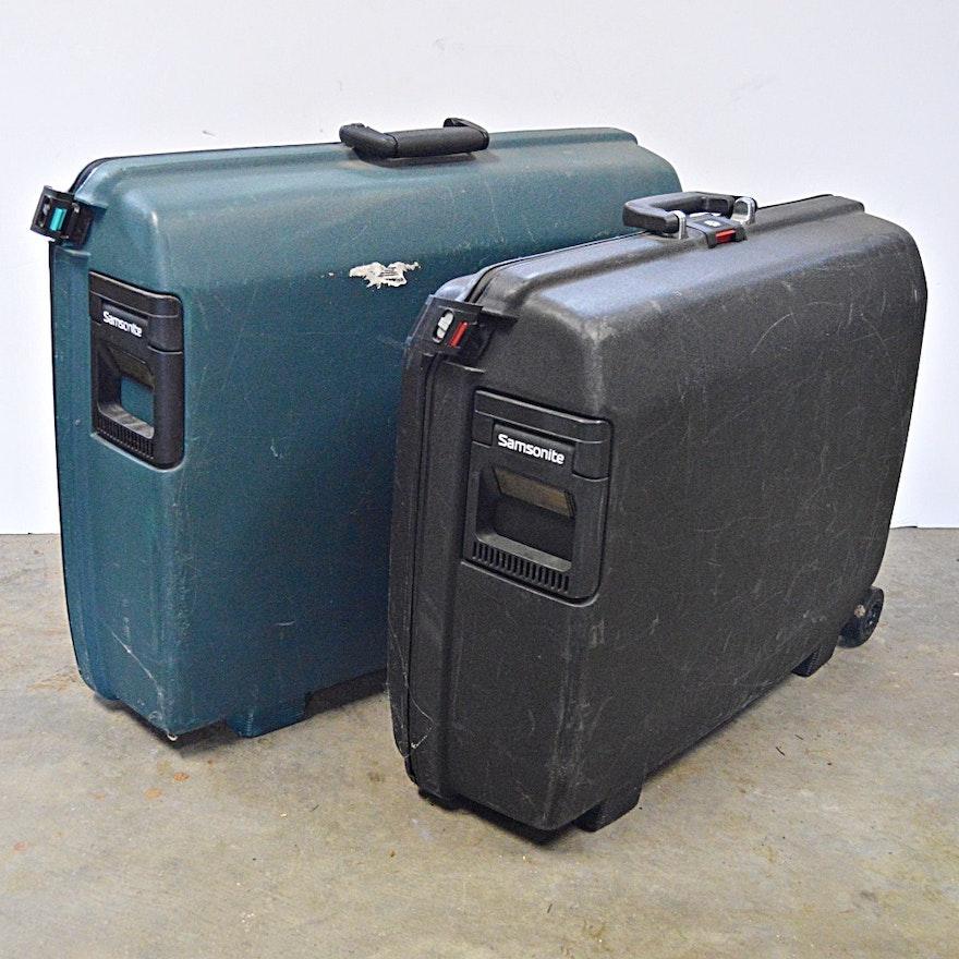 two samsonite hard shell luggage cases ebth. Black Bedroom Furniture Sets. Home Design Ideas