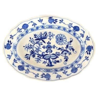 Blue Meissen Oval Platter