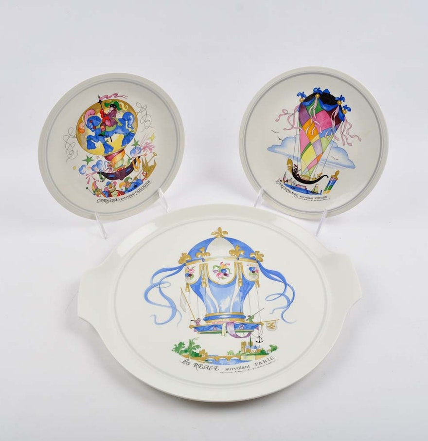 vintage villeroy boch le ballon plates ebth. Black Bedroom Furniture Sets. Home Design Ideas