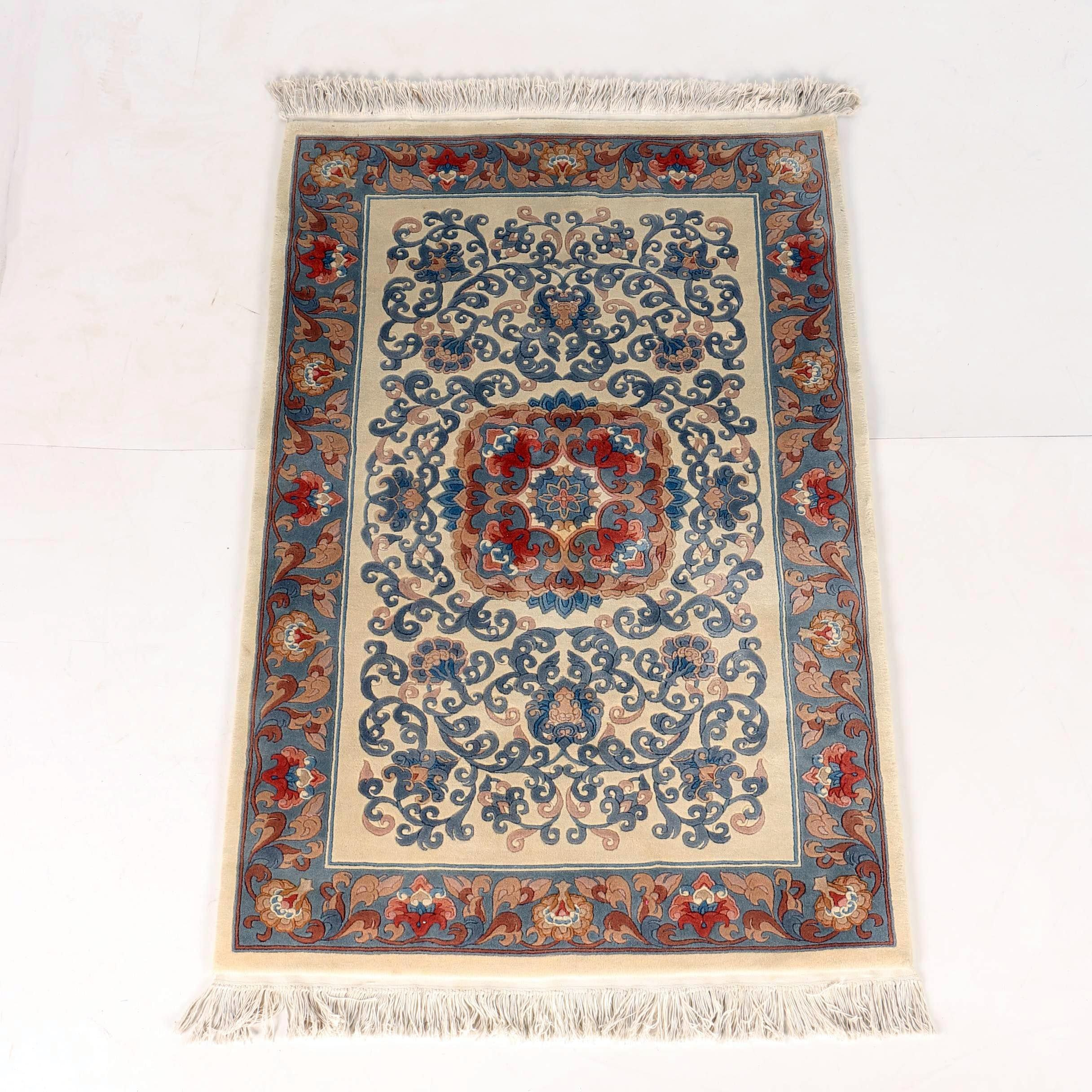 Chinese Medallion Sapphire Area Rug