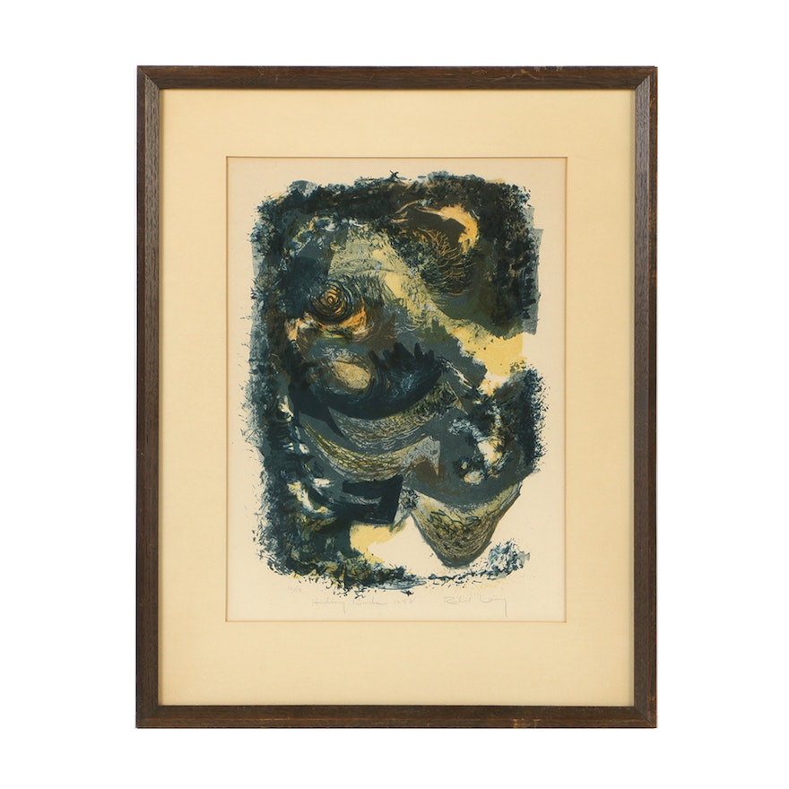 "Limited Edition Lithograph on Paper ""Hiding Birds"""