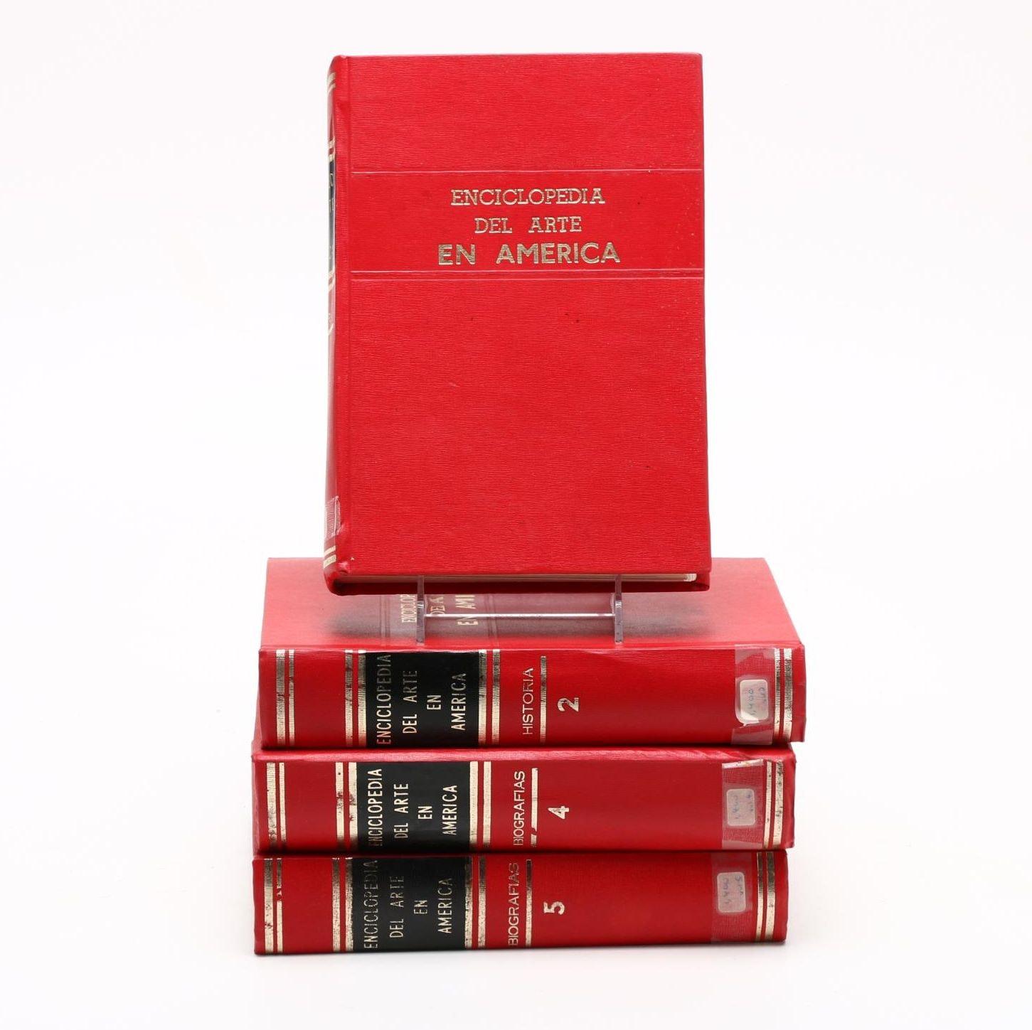 """Enciclopedia del Arte en America"" Four Volume Set"