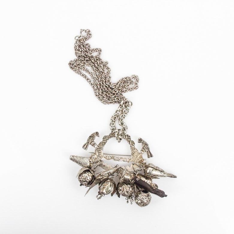 "Gerson Bahia Replica ""Penca de Balangandan"" Silver Necklace"