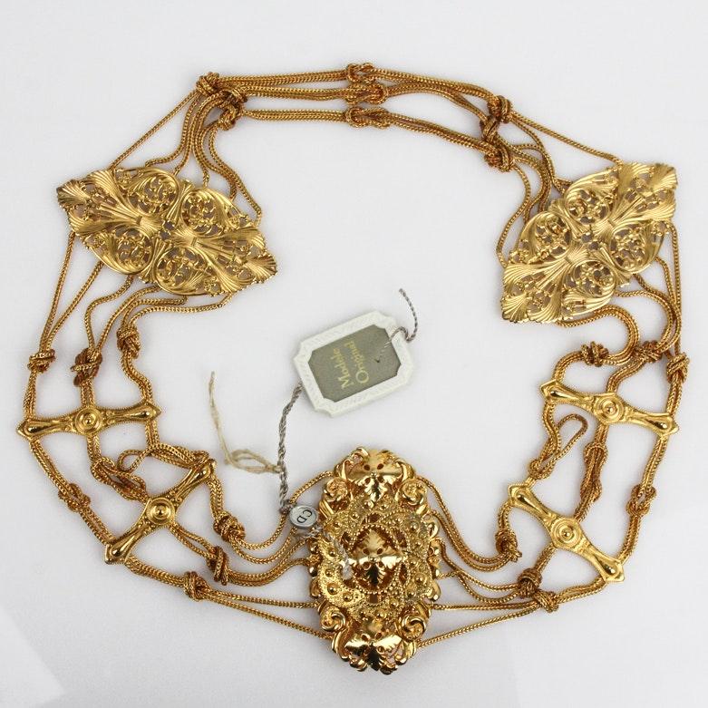 Vintage Christian Dior Openwork Belt