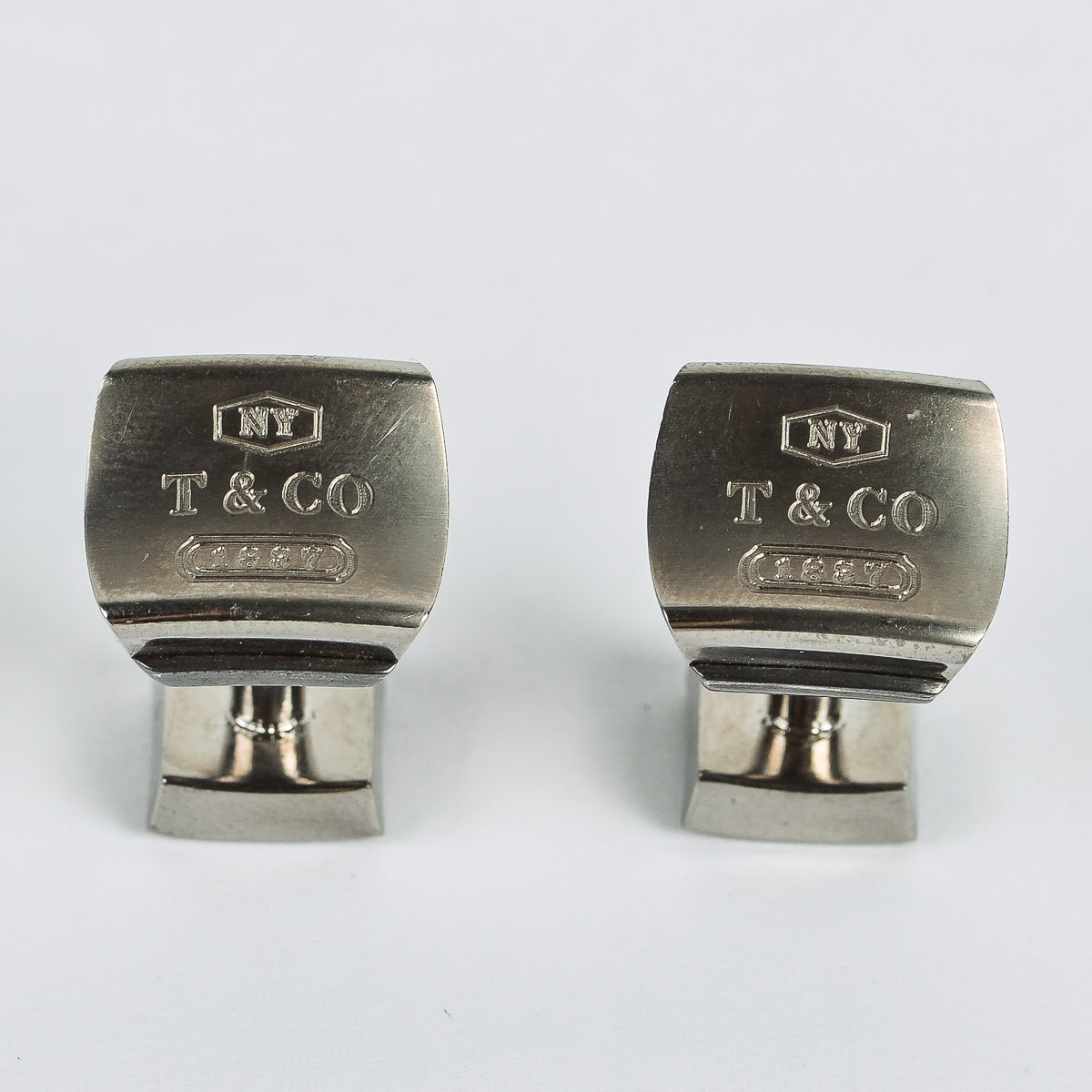 Tiffany & Co. Sterling Silver and Titanium Cufflinks
