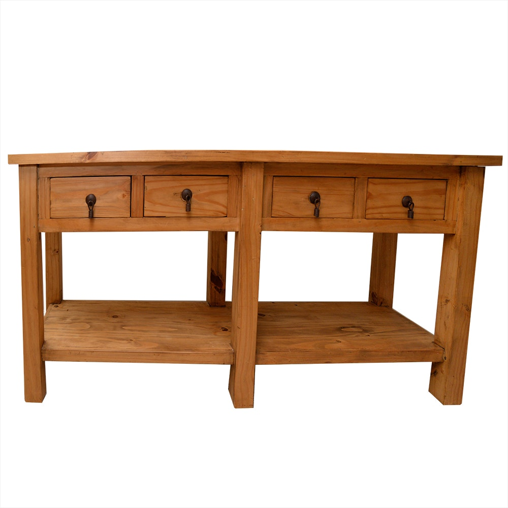 Mission Style Pine Console Table ...