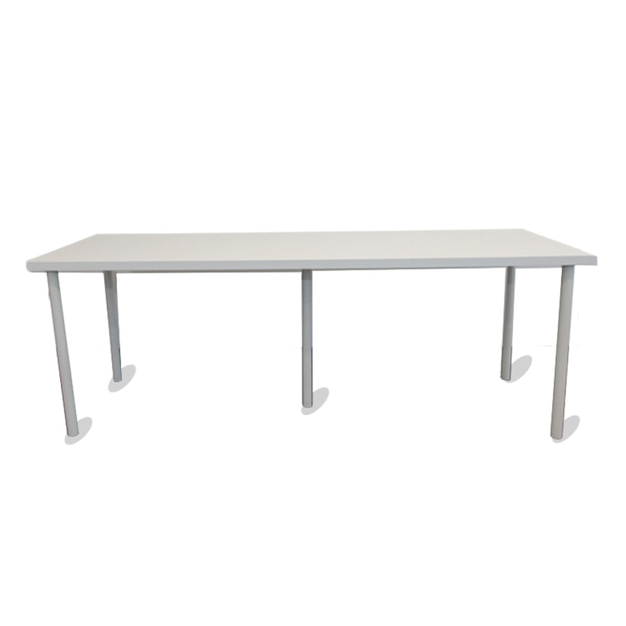 White Laminate Conference Table EBTH - White laminate conference table