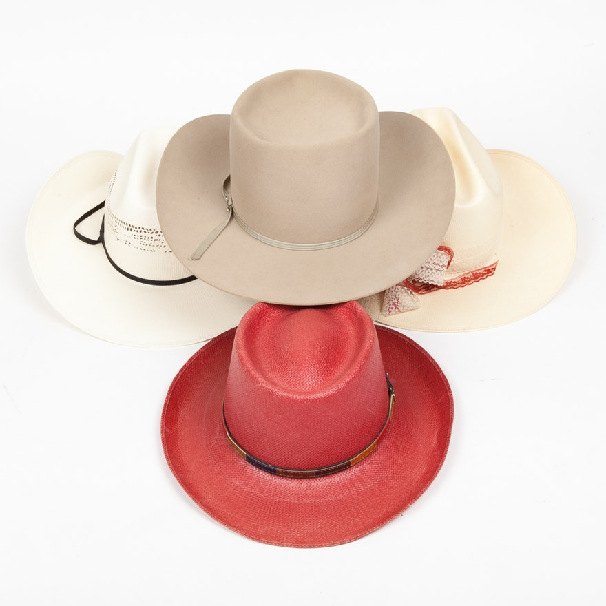 b167a62562012a Four Designer Cowboy Hats Featuring Stetson : EBTH