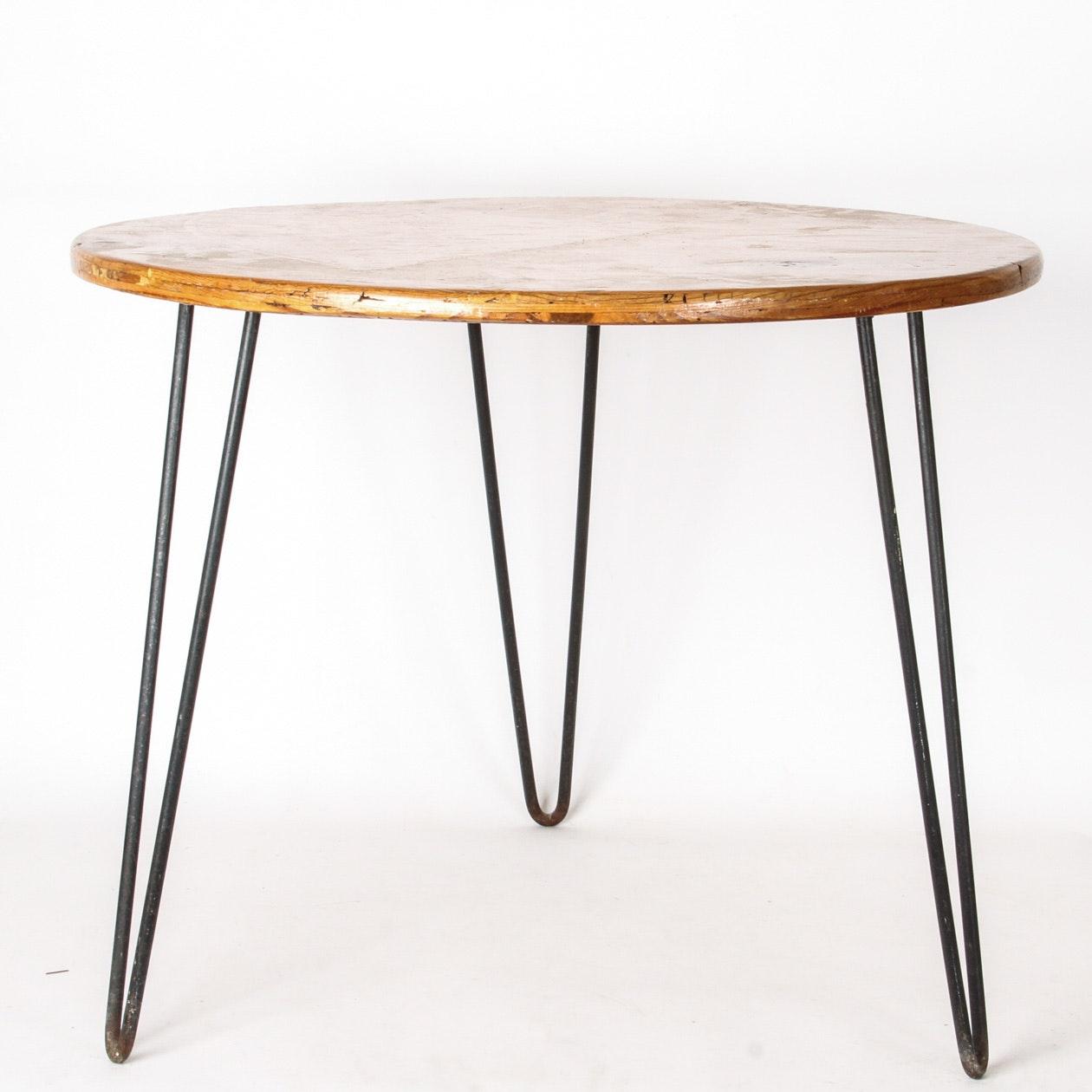 Mid-Century Hairpin Leg Side Table