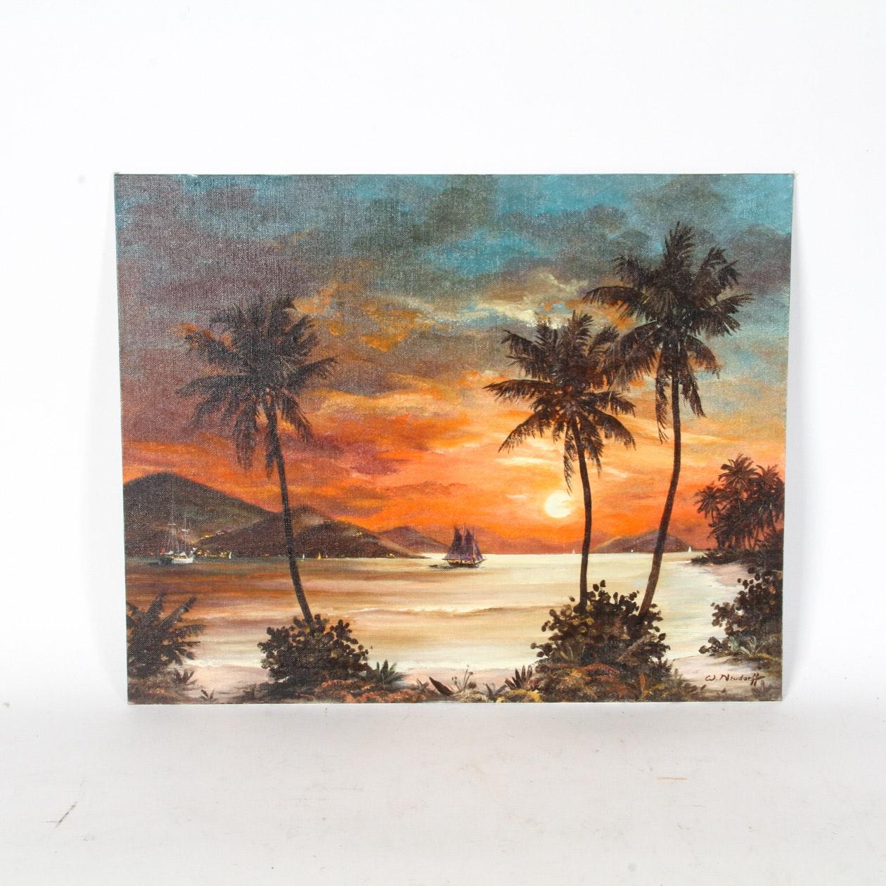 W. Neudorff Oil Painting on Board