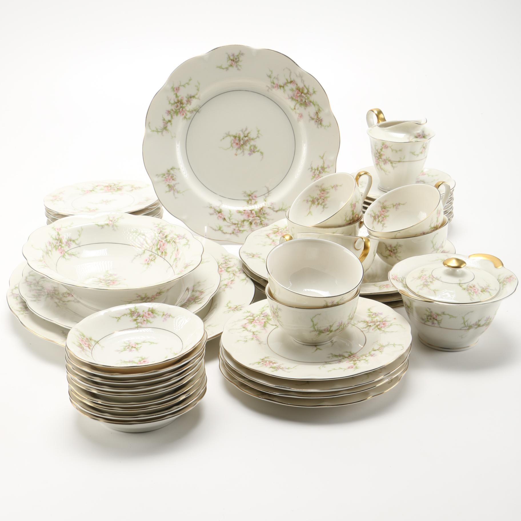 "Set of Haviland ""Rosalinde"" China Tableware"