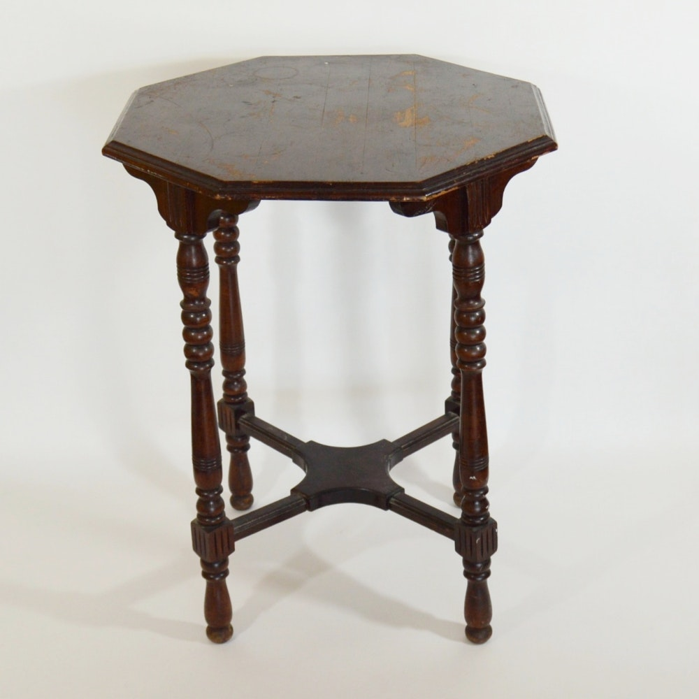 Antique Octagon Side Table ...
