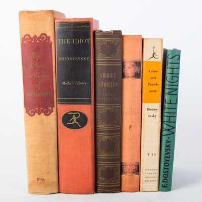 Collection of Vintage Fyodor Dostoyevsky Books