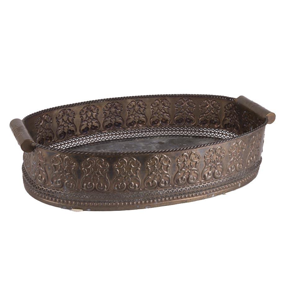 Large Indian Decorative Metal Basket