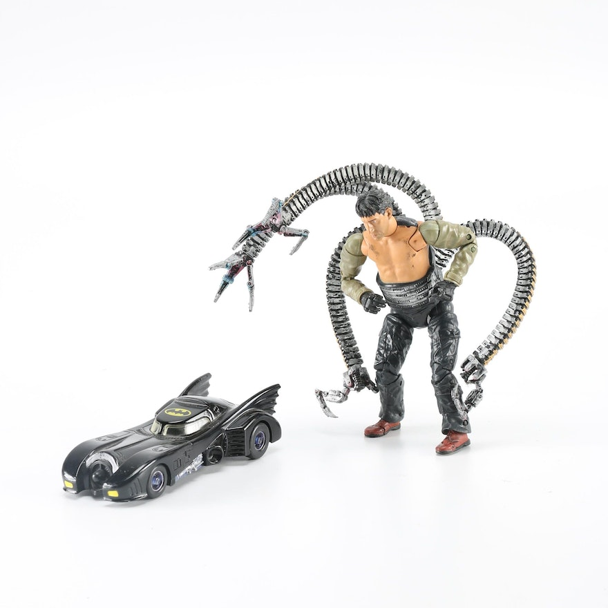 1989 Batmobile Diecast and 2004 Doctor Octopus Action ...