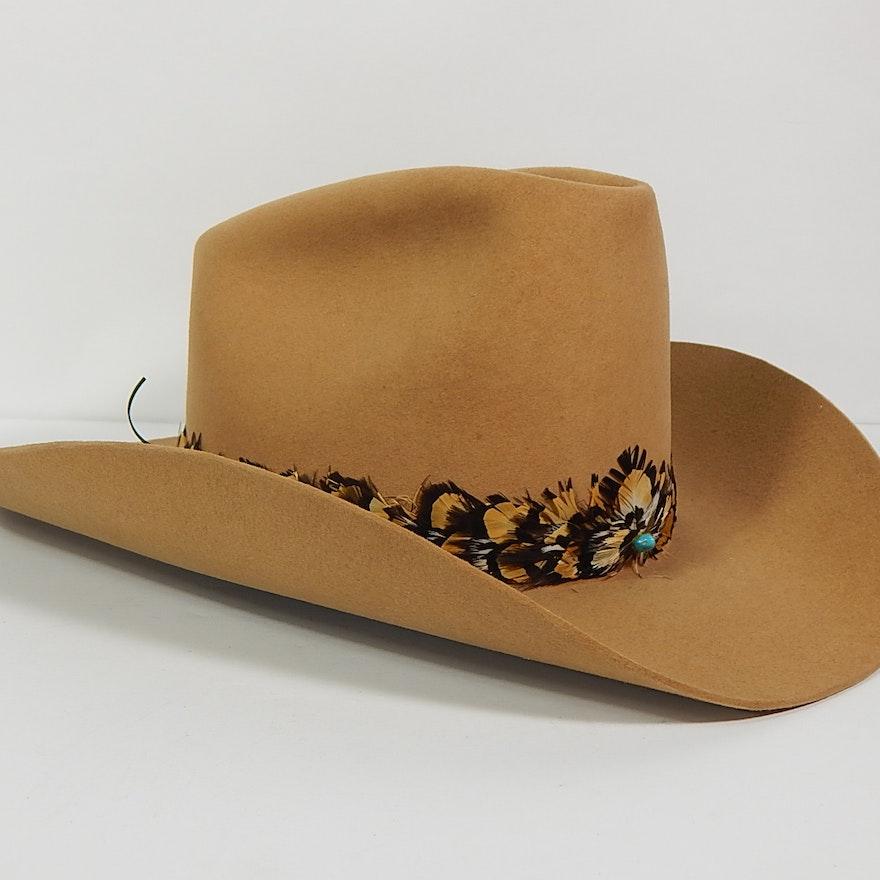 "Stetson XXXX ""Beaver"" Cowboy Hat with Pheasant Band"