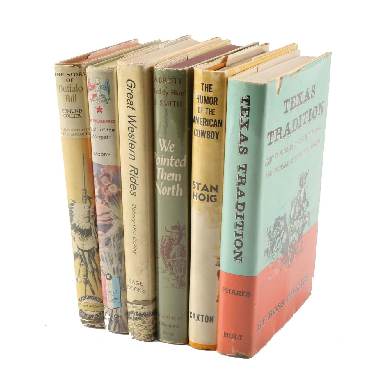 Set Of Illustrated Books on American Western Life