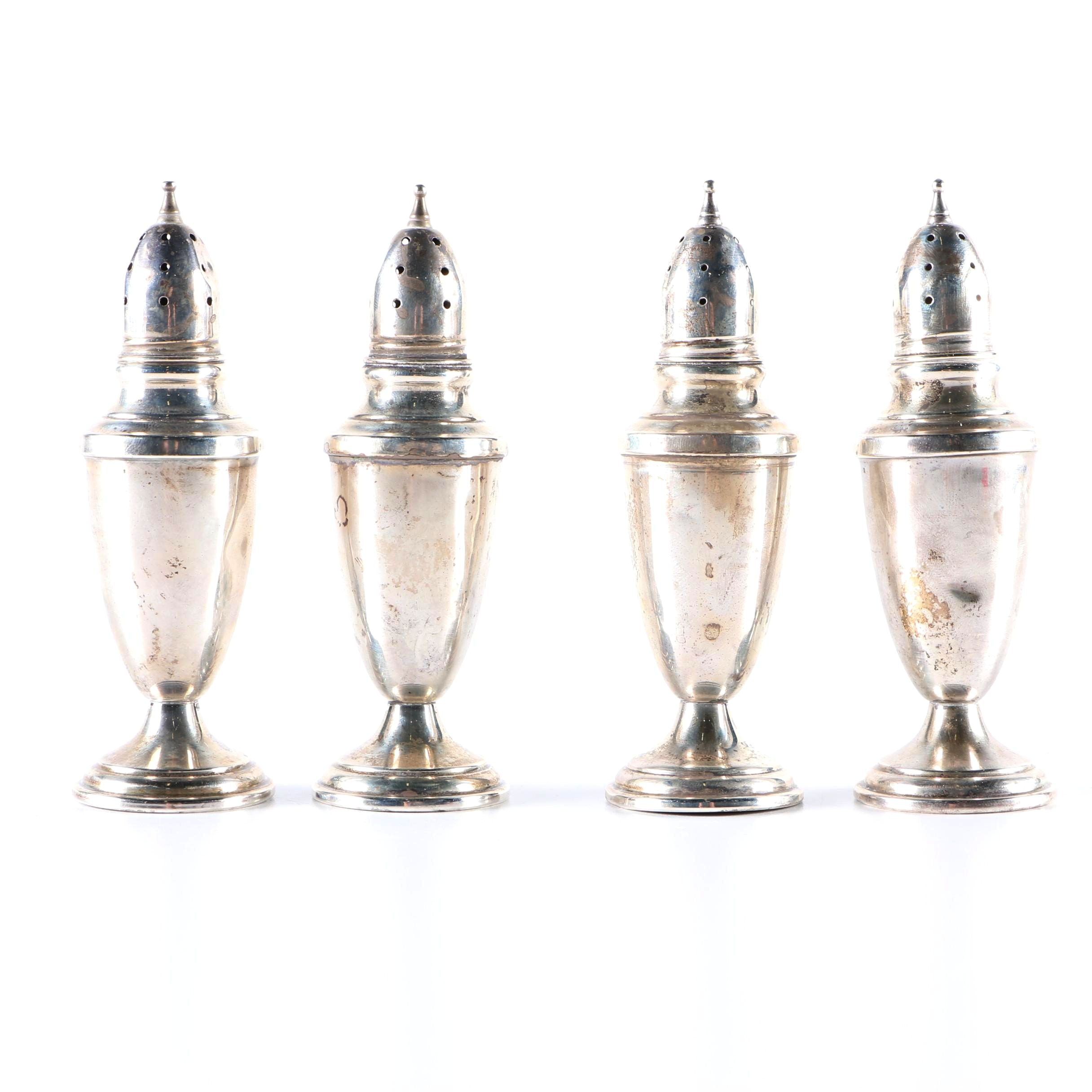 Four Sterling Silver Salt and Pepper Shakers from Towle
