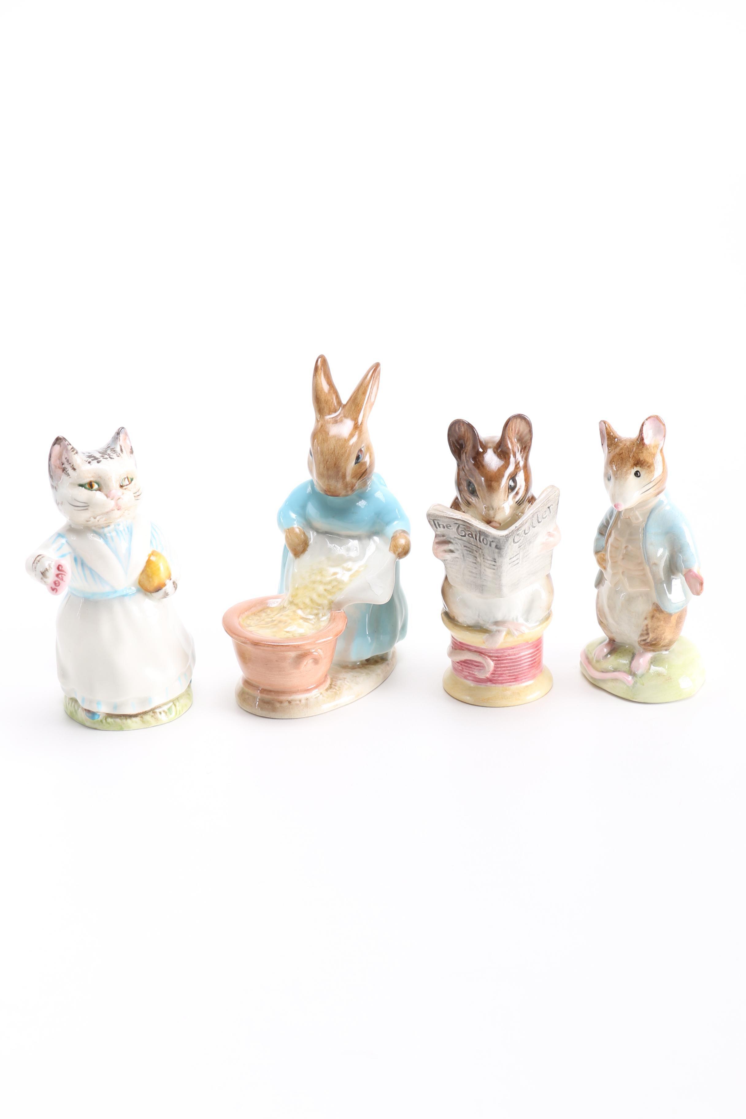 "Beswick Beatrix Potter Figurines Featuring ""The Tailor of Gloucester"""