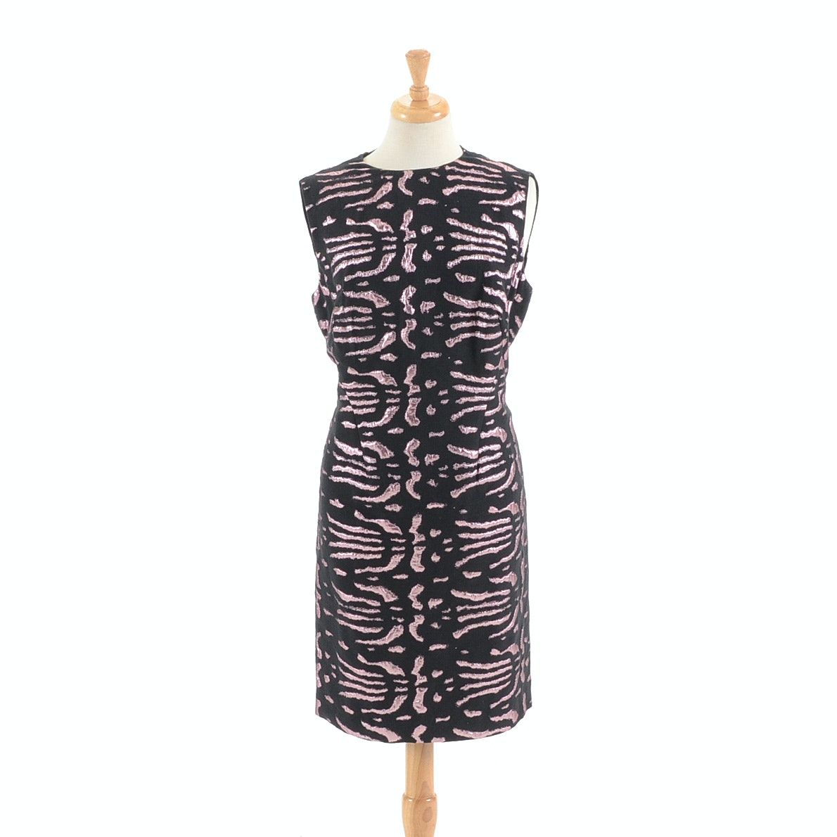 Versace Collection Metallic Jacquard Shift Dress