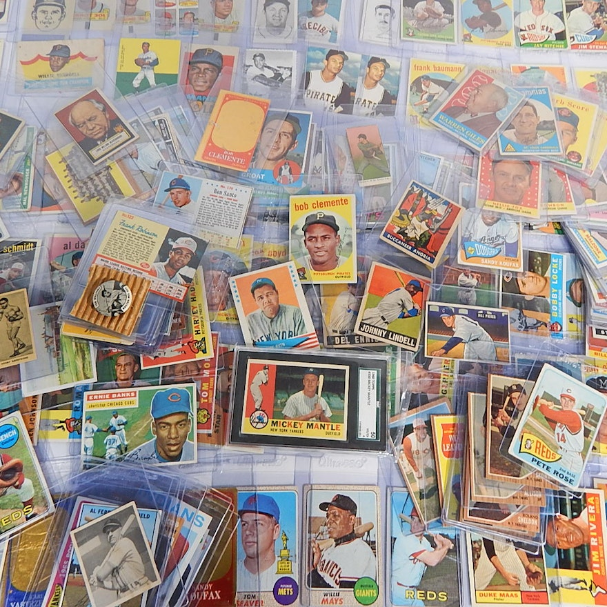 Huge Vintage Baseball Card Collection From 1930s Era To 1960s