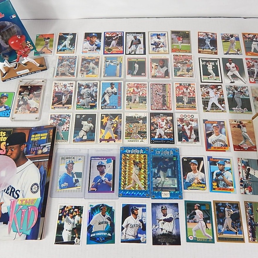 c35fbf65c1 Ken Griffey Jr. Card Collection with Rookies and Inserts : EBTH