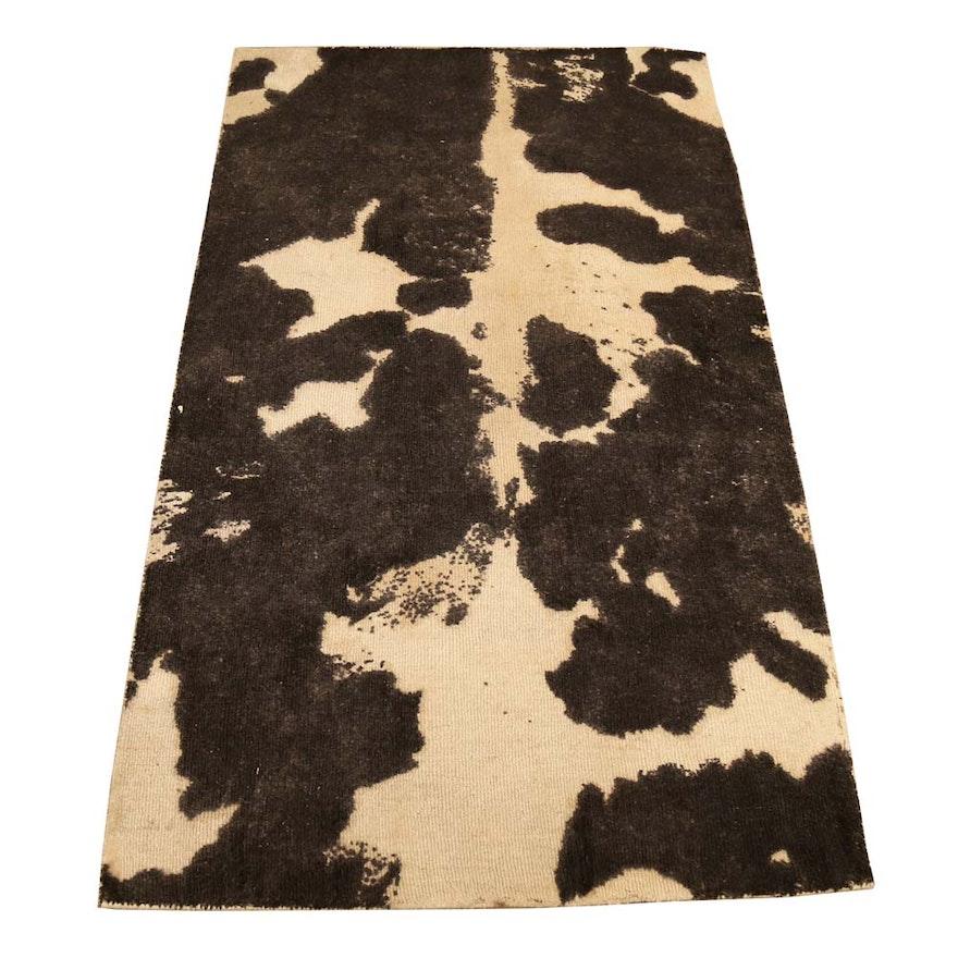 Pottery Barn Cow Print Wool Area Rug Ebth