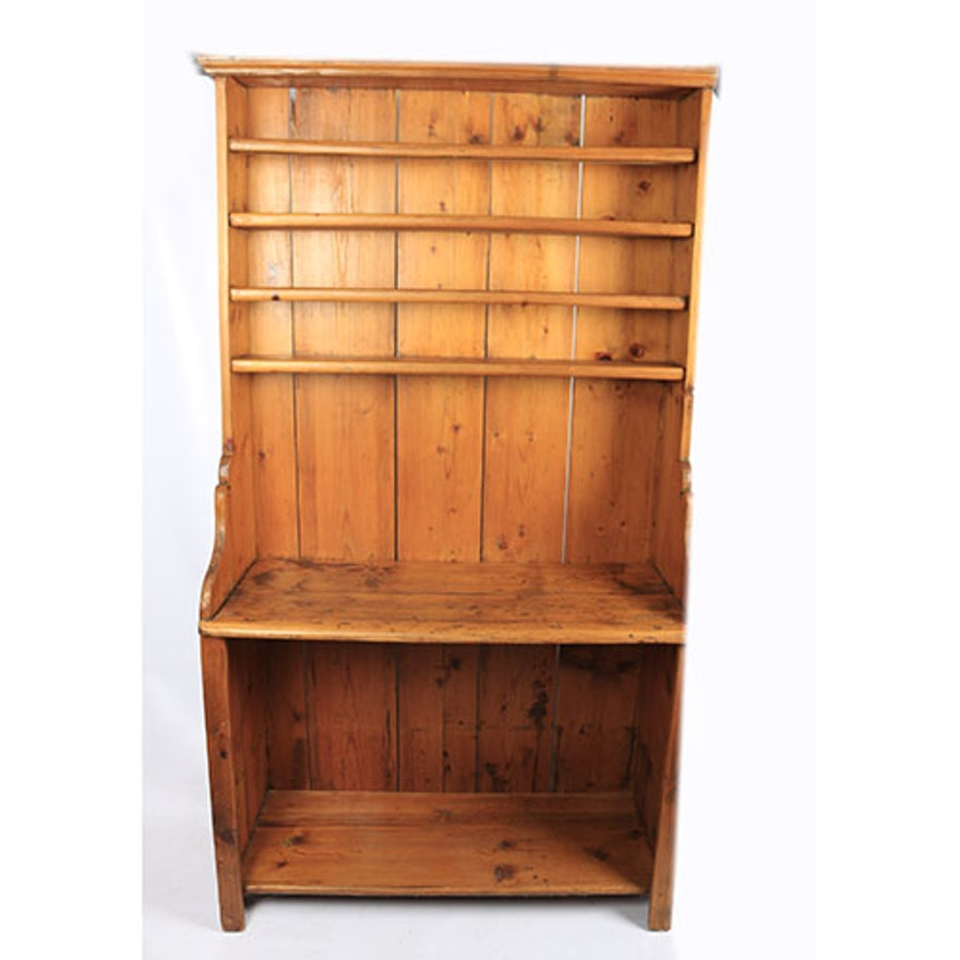 Marvelous Antique Pine Shelving Unit Download Free Architecture Designs Remcamadebymaigaardcom