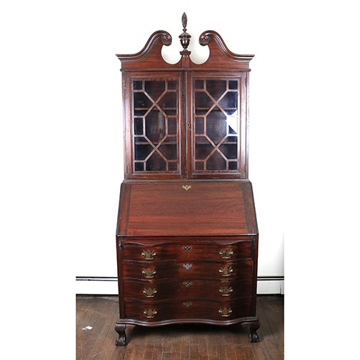 Early to Mid 20th Century Secretary Desk With Hutch