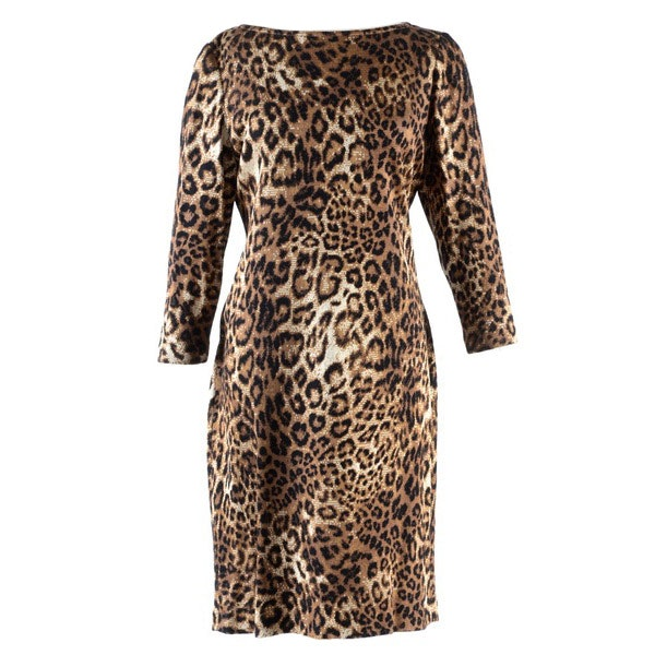 "St. John Leopard Print Knit Shift Dress from ""Truly Sexy"" Launch Party"