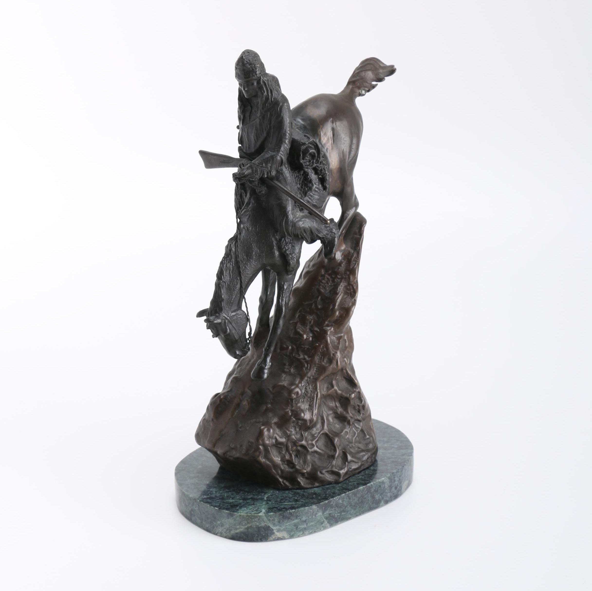"Frederic Remington Bronze Reproduction ""Mountain Man"""