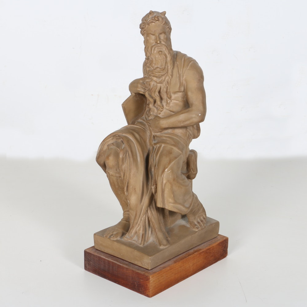 1955 Alva Studio Statue After Michelangelo Buonarroti's Moses