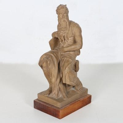 1955 Alva Studio Statue After Michelangelo Buonarroti's Moses