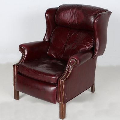 Bradington Young Leather Reclining Wing Chair