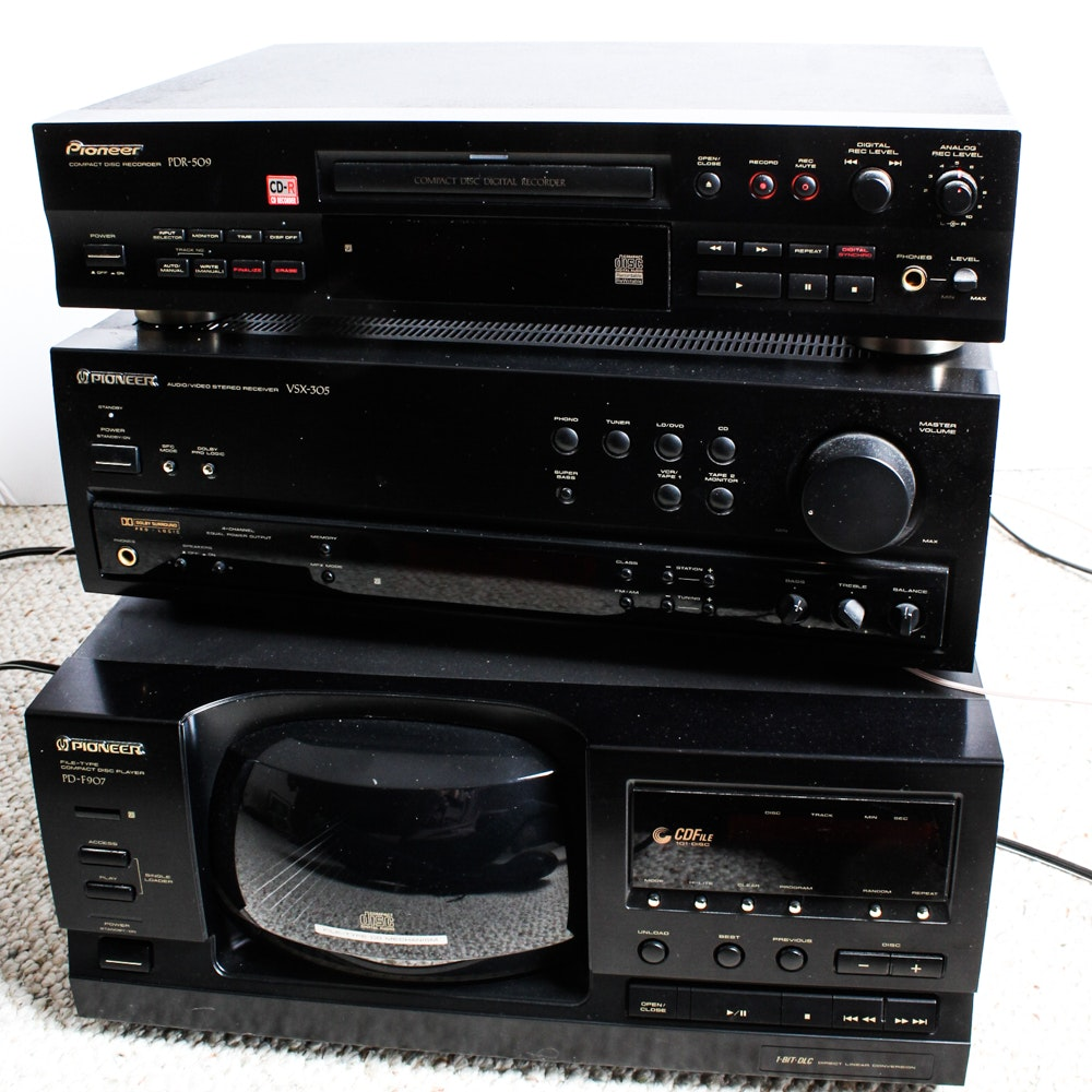 Pioneer Receiver and CD Players