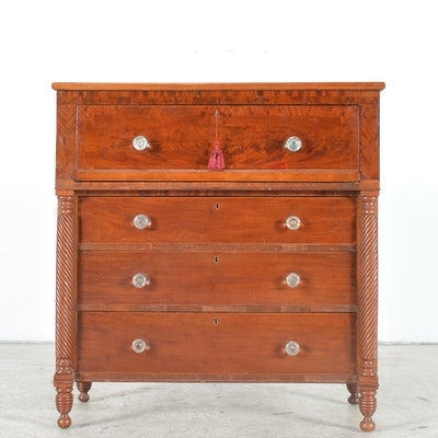 Antique Empire Style Cherry Butler's Desk