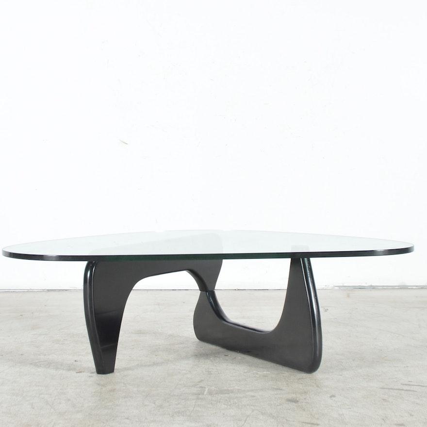 Noguchi Inspired Tribeca GlassTop Coffee Table By Modway EBTH - Noguchi inspired coffee table